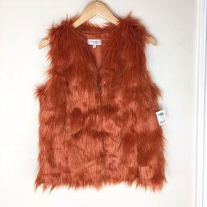 Charlotte Russe   Orange Faux Fur Vest